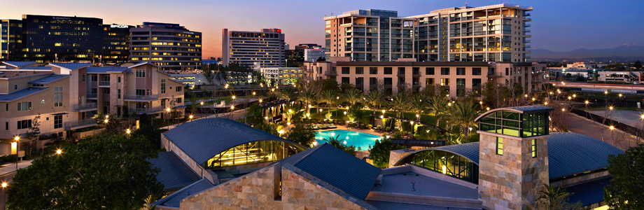 Central Park West Dusk, The Sousse Group, Luxury Irvine Condos, Luxury Newport Beach Homes